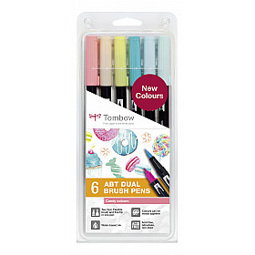 Tombow Dual Brush ABT (Set van 6) - Candy Colours