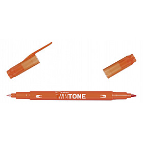 Tombow TwinTone Marker - Carrot Orange