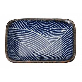 Seigaiha Blue - Schaal Rechthoekig - 10x7 cm