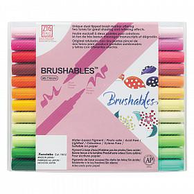 Kuretake ZIG Brushables Tweekleurige Brush Pen - Set van 24