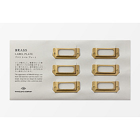 TRAVELER'S Company Solid Brass Label Plate - Set van 6