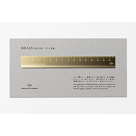 TRAVELER'S Company Brass Ruler / Liniaal - 16 cm