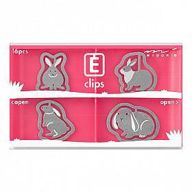 Midori E-Clips - Rabbits (Set van 16)