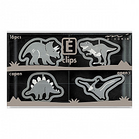 Midori E-Clips - Dinosaurs (Set van 16)