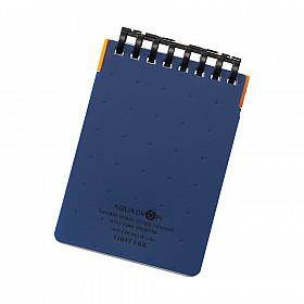 LIHIT LAB Aquadrops Twist Memo Mini Notitieboekje - A7+ - 40 pagina's - Gelinieerd - Blauw