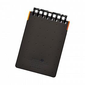 LIHIT LAB Aquadrops Twist Memo Mini Notitieboekje - A7+ - 40 pagina's - Gelinieerd - Zwart