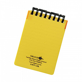 LIHIT LAB Aquadrops Twist Memo Mini Notitieboekje - A7+ - 40 pagina's - Gelinieerd - Geel