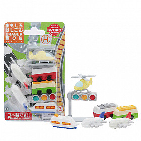 Iwako Novelty Eraser Gummetjes - Vehicle - Set van 7