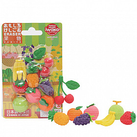 Iwako Novelty Eraser Gummetjes - Fruits - Set van 8