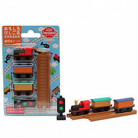 Iwako Novelty Eraser Gummetjes - Locomotive Set - Set van 6