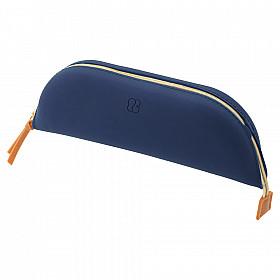 LIHIT LAB Bloomin Tray Pen Etui - Maat L - Navy Blue