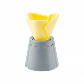 LIHIT LAB Desk Pen Stand / Penhouder - Geel / Grijs