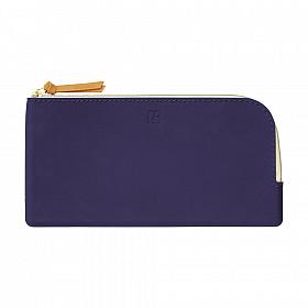 LIHIT LAB Bloomin Flat Pouch - Pen Etui - Navy Blue