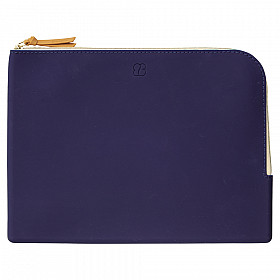 LIHIT LAB Bloomin Flat Pouch - A5 Formaat - Navy Blue