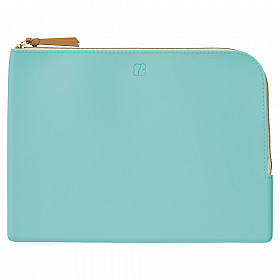 LIHIT LAB Bloomin Flat Pouch - A5 Formaat - Mint Green