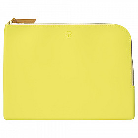 LIHIT LAB Bloomin Flat Pouch - A5 Formaat - Lemon Yellow