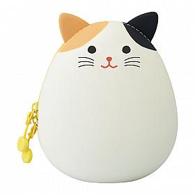 LIHIT LAB Punilabo Egg Pouch - Big Size - Mikeneko Cat