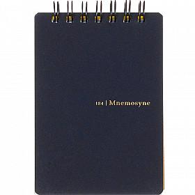 Maruman Mnemosyne Memo Pad - A7 Formaat met Ringband - Zwart