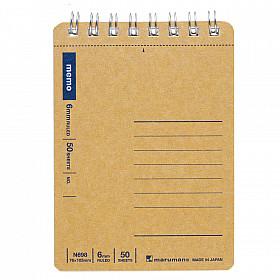 Maruman Spiral Note Basic Memo Pad - Gelinieerd - A7+