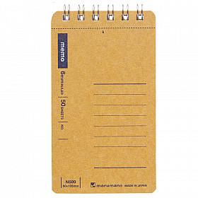 Maruman Spiral Note Basic Memo Pad - Gelinieerd - A7