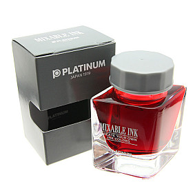 Platinum Mixable Ink Vulpen Inkt - 20 ml - Flame Red
