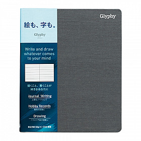 Maruman Glyphy Notebook - B6 - Gelinieerd Writing Paper - 80 Pagina's