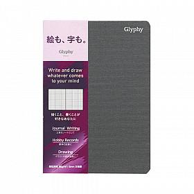 Maruman Glyphy Notebook - A6 - Geruit Writing Paper - 48 Pagina's
