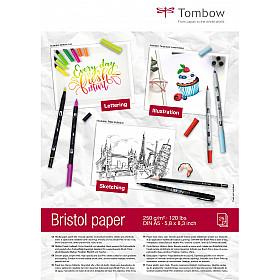 Tombow Bristol Tekenblok - A5 - Hagelwit - 250g papier - 25 vellen