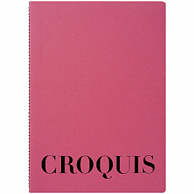 Maruman Croquis Book - A4 - White Paper - Pink Cover - 60 Pagina's