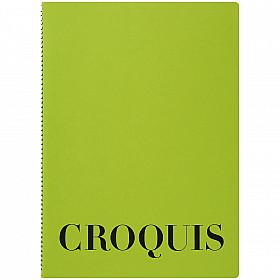 Maruman Croquis Book - A4 - White Paper - Green Cover - 60 Pagina's