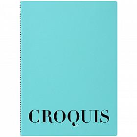 Maruman Croquis Book - A4 - White Paper - Blue Cover - 60 Pagina's