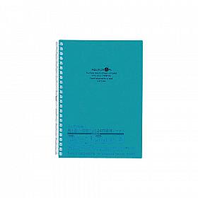 LIHIT LAB Aquadrops Twist Note Notebook - A5 - 30 pagina's - Gelinieerd - Turquoise