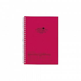 LIHIT LAB Aquadrops Twist Note Notebook - A5 - 30 pagina's - Gelinieerd - Rood