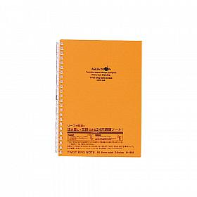 LIHIT LAB Aquadrops Twist Note Notebook - A5 - 30 pagina's - Gelinieerd - Oranje