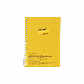 LIHIT LAB Aquadrops Twist Note Notebook - A5 - 30 pagina's - Gelinieerd - Geel