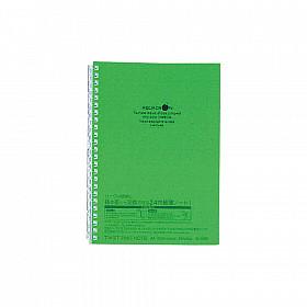 LIHIT LAB Aquadrops Twist Note Notebook - A5 - 30 pagina's - Gelinieerd - Groen
