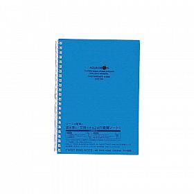LIHIT LAB Aquadrops Twist Note Notebook - A5 - 30 pagina's - Gelinieerd - Blauw