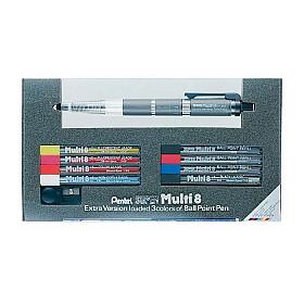 Pentel PH803 Multi 8 Ballpoint & Vulpotlood - 2.0 mm - Set met vullingen