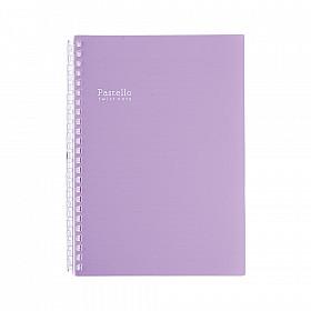 LIHIT LAB Pastello Twist Note Notebook - A5 - 30 pagina's - Gelinieerd - Pastel Purple