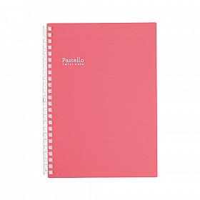 LIHIT LAB Pastello Twist Note Notebook - A5 - 30 pagina's - Gelinieerd - Pastel Rouge
