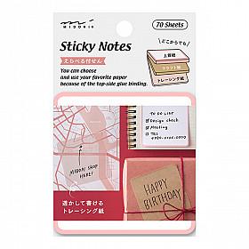 Midori Sticky Notes - 3 Soorten Papier - 70 stuks - Roze
