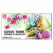 Kuretake Gansai Tambi Portable Water Color Set - 14 kleuren