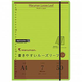Maruman Septcouleur Loose Leaf Pad Schrijfmap - A4 - Lichtgroen