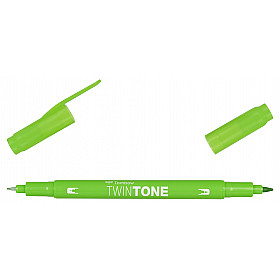 Tombow TwinTone Marker - Rainbow Colours - Yellow Green