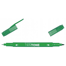 Tombow TwinTone Marker - Rainbow Colours - Green