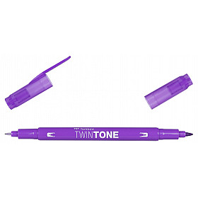 Tombow TwinTone Marker - Rainbow Colours - Violet