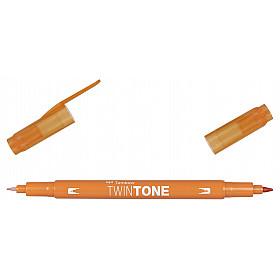Tombow TwinTone Marker - Rainbow Colours - Orange
