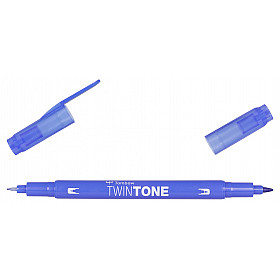 Tombow TwinTone Marker - Rainbow Colours - French Blue