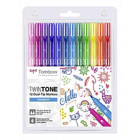Tombow TwinTone Marker Set - Rainbow Colours - Set van 12