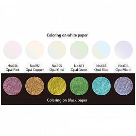 Kuretake Gansai Tambi Water Colours - Opal Colors - Set van 6